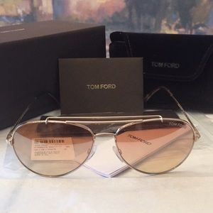 BNWT Tom Ford Indiana Pink Brown Sunglasses